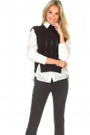 Kocca |  Spencer with ruffles Bjorn | black  | Picture 2
