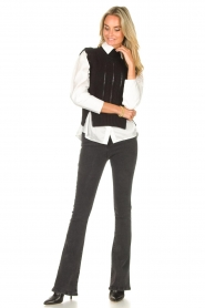 Kocca |  Spencer with ruffles Bjorn | black  | Picture 3