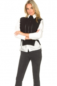 Kocca |  Spencer with ruffles Bjorn | black  | Picture 5