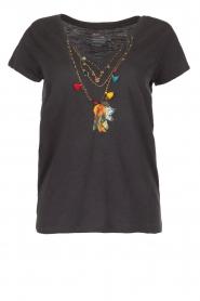 Leon & Harper | T-shirt Mantra | grijs  | Afbeelding 1
