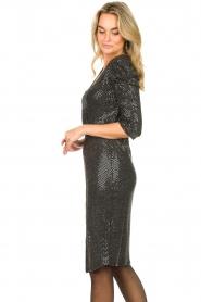 Set |  Lurex midi dress Kale | silver  | Picture 5