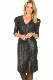 Set |  Lurex midi dress Kale | silver  | Picture 4
