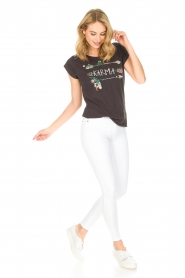 Leon & Harper | Biologisch katoenen T-shirt Taza Zen | grijs  | Afbeelding 3