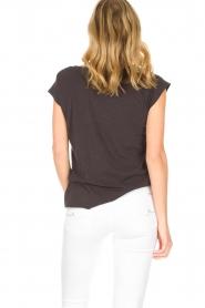 Leon & Harper | Biologisch katoenen T-shirt Taza Zen | grijs  | Afbeelding 6