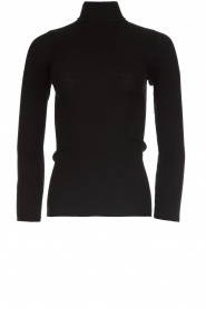Rosemunde |  Silk turtleneck top Belle | black  | Picture 1