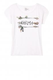 Leon & Harper | Biologisch katoenen T-shirt Taza Zen | grijs  | Afbeelding 1