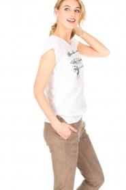 Leon & Harper | Biologisch katoenen T-shirt Taza Zen | grijs  | Afbeelding 4