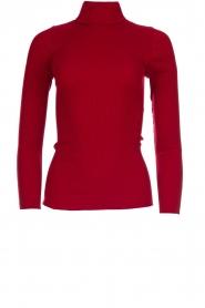Rosemunde |  Silk turtleneck top Belle | red  | Picture 1