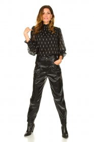 Set |  Faux leather pants with animal print Lilly | black  | Picture 3