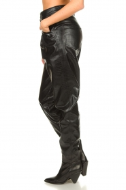 Set |  Faux leather pants with animal print Lilly | black  | Picture 6