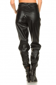 Set |  Faux leather pants with animal print Lilly | black  | Picture 7