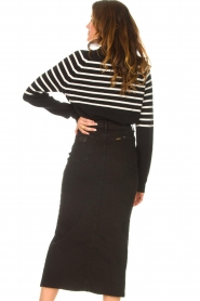 Kocca |  Knitted sweater with striped Silvana | black  | Picture 6