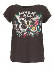 Leon & Harper | T-shirt Papillon | zwart  | Afbeelding 1