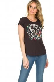 Leon & Harper | T-shirt Papillon | zwart  | Afbeelding 3