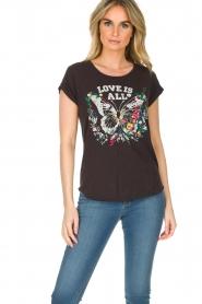 Leon & Harper | T-shirt Papillon | zwart  | Afbeelding 2
