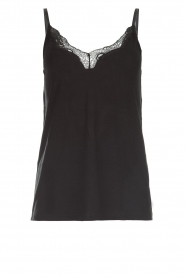 Rosemunde |  Top with lace Scarlett | black  | Picture 1