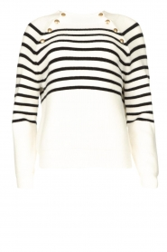 Kocca    Knitted sweater with striped Silvana   natural    Picture 1