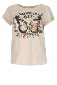 Leon & Harper | T-shirt Papillon | beige  | Afbeelding 1