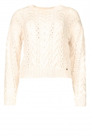 Kocca    Knitted sweater with sequins Zelig   beige    Picture 1