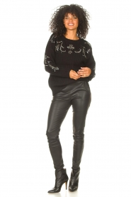 Kocca |  Knitted sweater with sequins Savita | black  | Picture 3