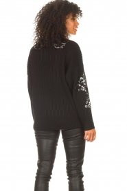 Kocca |  Knitted sweater with sequins Savita | black  | Picture 6