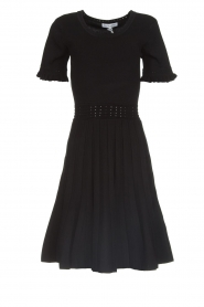 Silvian Heach |  Dress with pleated skirt Batabano | black  | Picture 1