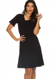 Silvian Heach |  Dress with pleated skirt Batabano | black  | Picture 2