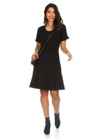 Silvian Heach |  Dress with pleated skirt Batabano | black  | Picture 3