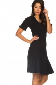 Silvian Heach |  Dress with pleated skirt Batabano | black  | Picture 5