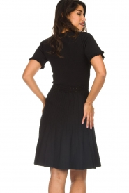 Silvian Heach |  Dress with pleated skirt Batabano | black  | Picture 6