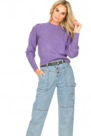 Kocca |  Knitted sweater Furio | purple  | Picture 2