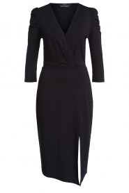 Set |  Midi dress with puf sleeves | black  | Picture 1
