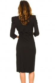 Set |  Midi dress with puf sleeves | black  | Picture 7