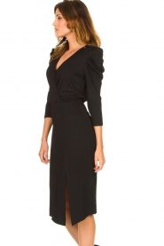 Set |  Midi dress with puf sleeves | black  | Picture 6