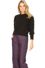 Kocca |  Knitted sweater Furio | black  | Picture 4