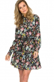 Silvian Heach |  Floral dress Zonghe | black  | Picture 4
