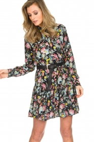 Silvian Heach |  Floral dress Zonghe | black  | Picture 2