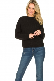 Set |  Knitted sweater Peony | black  | Picture 2