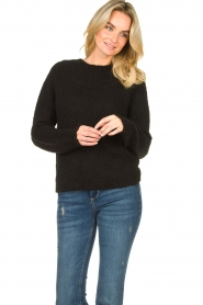 Set |  Knitted sweater Peony | black  | Picture 4