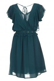 Silvian Heach |  Dress with ruffles Handan | blue  | Picture 1