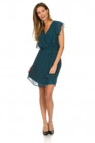 Silvian Heach |  Dress with ruffles Handan | blue  | Picture 3