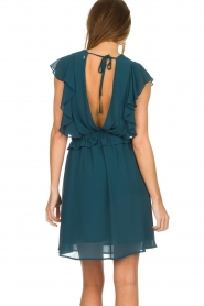 Silvian Heach |  Dress with ruffles Handan | blue  | Picture 5
