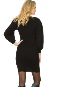 Set |  Merino woolen dress with balloon sleeves Trace | black  | Picture 5