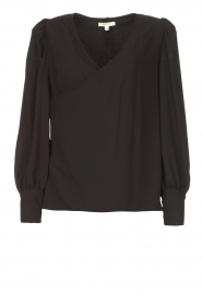 Kocca |  Wrapped detail top Meera | black  | Picture 1