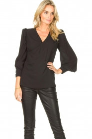 Kocca |  Wrapped detail top Meera | black  | Picture 4