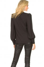 Kocca |  Wrapped detail top Meera | black  | Picture 6