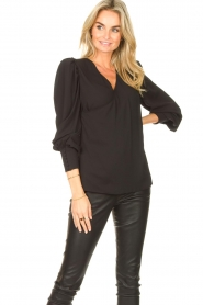 Kocca |  Wrapped detail top Meera | black  | Picture 2