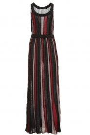 Silvian Heach |  Striped glitter maxi dress Mukdahan | black  | Picture 1