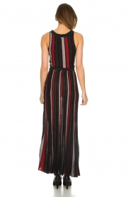 Silvian Heach |  Striped glitter maxi dress Mukdahan | black  | Picture 4