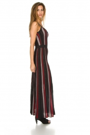 Silvian Heach |  Striped glitter maxi dress Mukdahan | black  | Picture 3